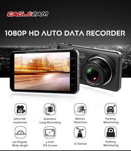Image 4 - Car Dvr Camera 4.0 Inch Screen Full HD 1080P Dual Lens with Rear View Dashcam Auto Registrar Car Video Recorder DVRs Camcorder