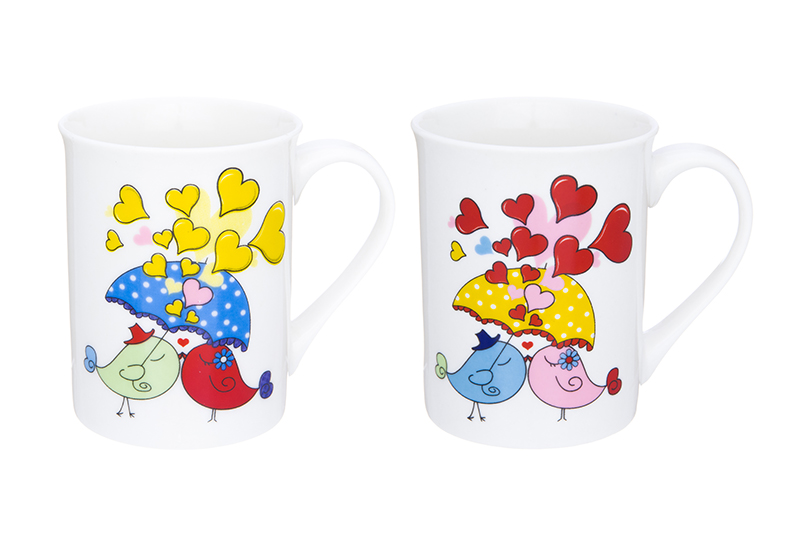 Available from 10.11 A set of mugs 2 items Birds in Love Elan Gallery 230106