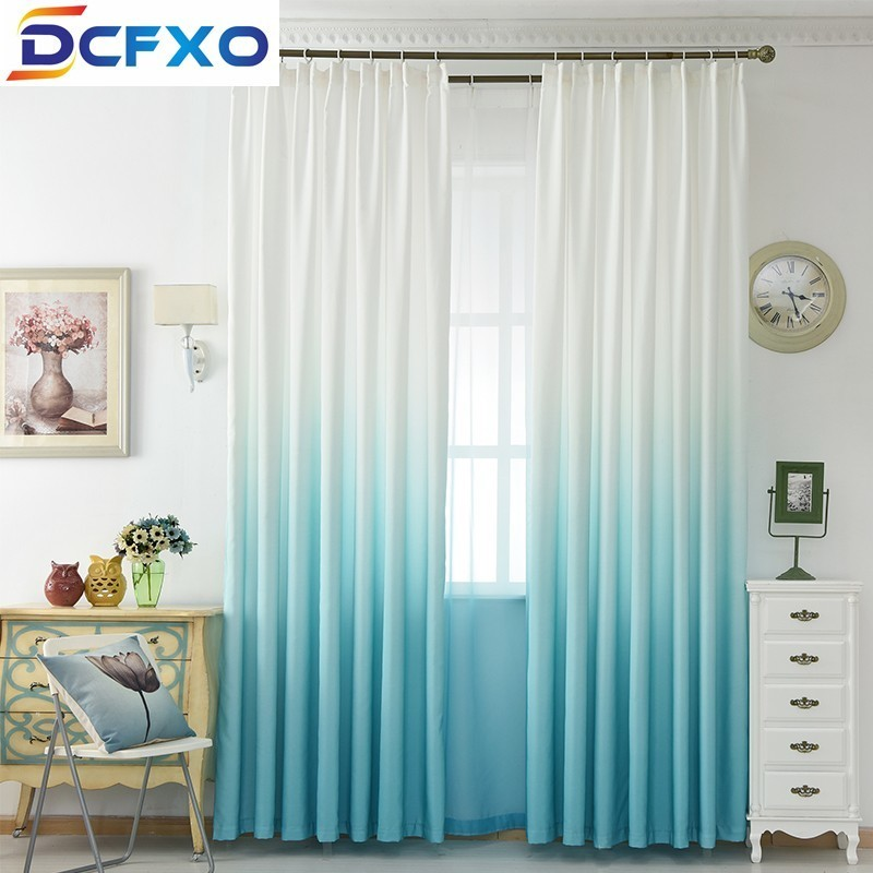 Window Curtain Modern Home Polyester Curtains Living Room 3d Gradient  blackout Curtains For Bedroom