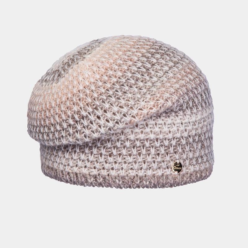 Hat Woolen hat Canoe 3447400 CHANS winter hat beret knitted women beanie knit hat skullies beanies rabbit fur soft thicken warm woolen gorros bonnets wholesale