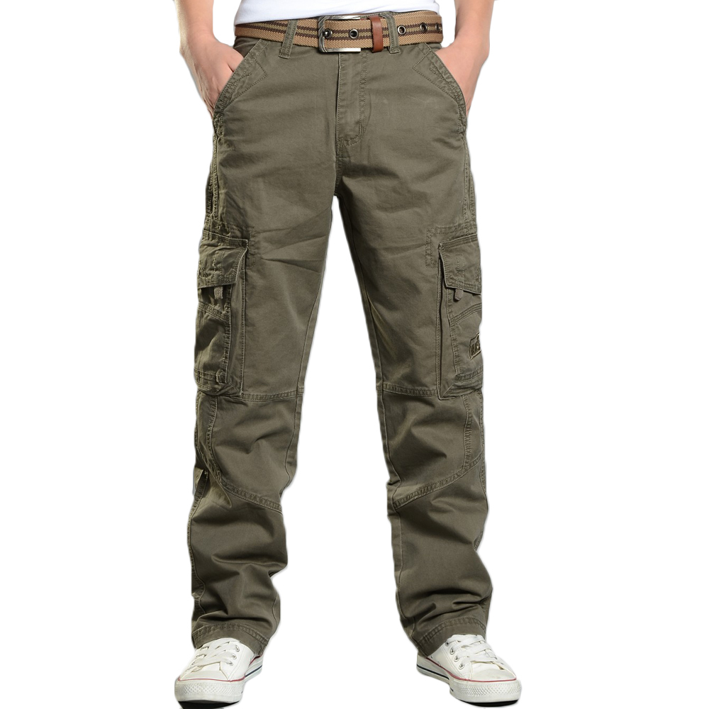 Армейские брюки-карго, мужские повседневные штаны с несколькими карманами, Homme, мужские уличные военные тактические хлопковые брюки, одежда...