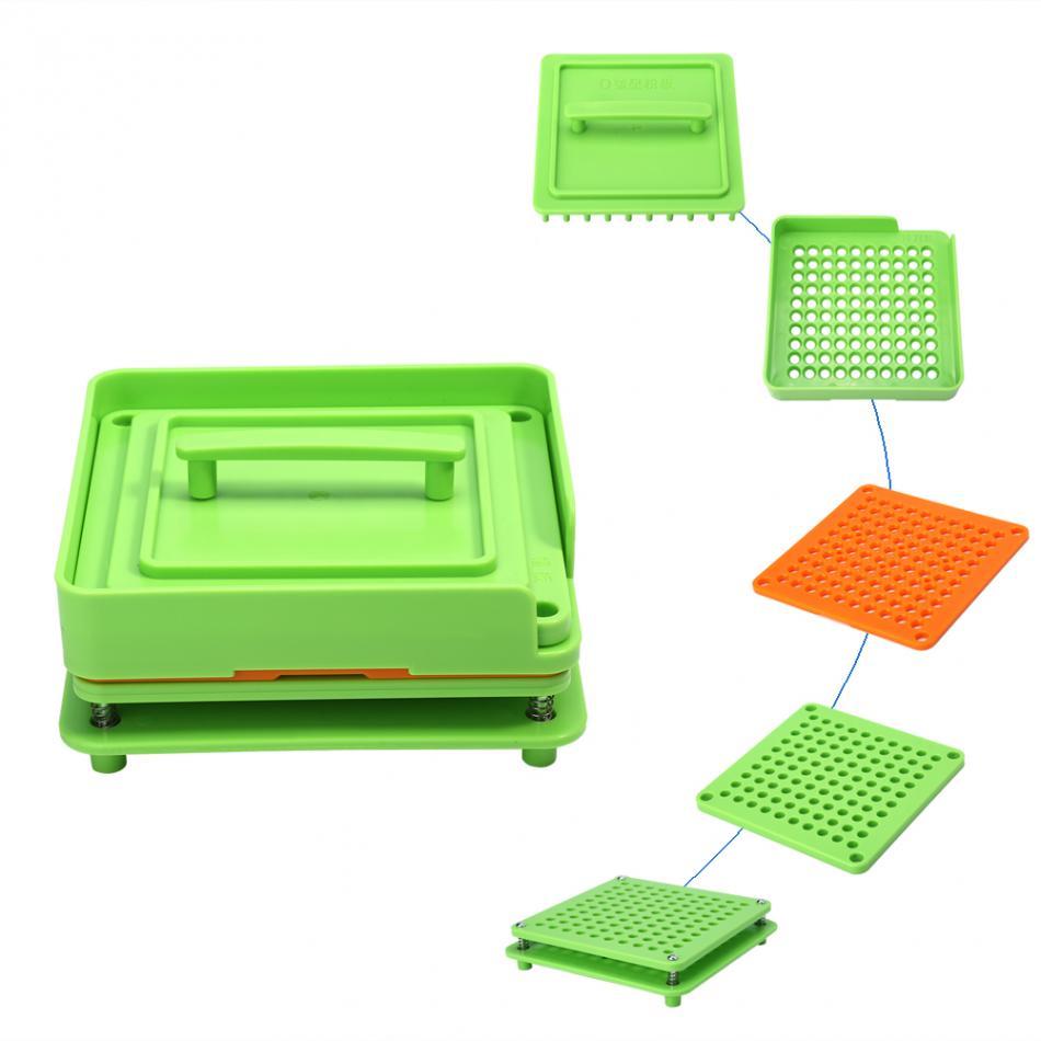 100Holes Plastic Manual Capsule Filler Size 0# 1# Capsule Powder Filler Plate Manual Filling Machine Tool For DIY Herbal CapsulePill Cases & Splitters   -