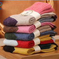 5 Pairs Women's Wool Cashmere Warm Soft Thick Casual Multicolor Winter Socks Casual Winter Socks Sock Over Ankle