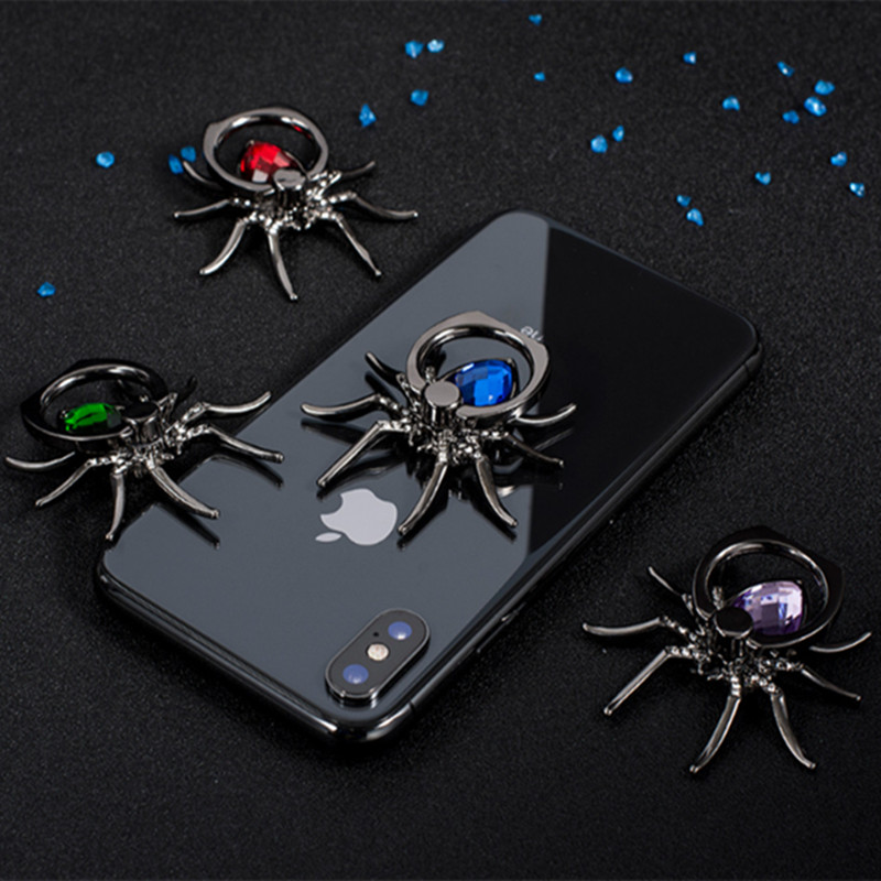 Spider Metal Finger Ring Mobile Phone Smartphone Car Mount Bracket Stand Holder For IPhone Samsung Smart Phone Ring