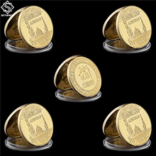 5 pièces de monnaie arabe arabe islamique Haj Allah Bismillah, coran, or à collectionner