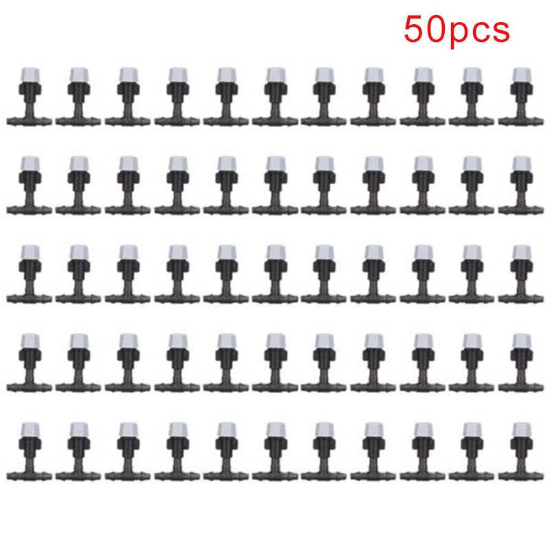 50pcs Plastic Spray Water Fog Misting Nozzle Gardening Water Cooling System  Greenhouse Plants Spray Sprinkler Head for sprayer