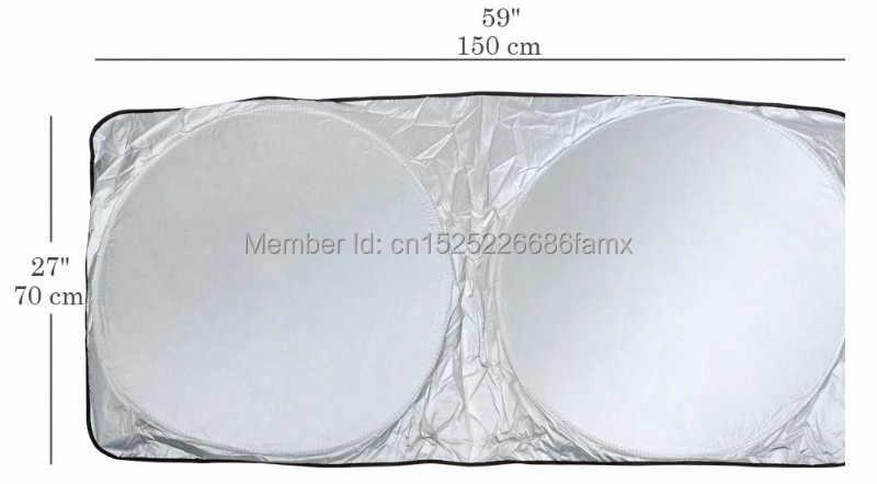 150*70 Cm Auto Depan Belakang Jendela Shade Blind untuk Mobil Kaca Depan Berjemur Shade Jendela Depan Mobil Kerai UV melindungi Jendela Mobil