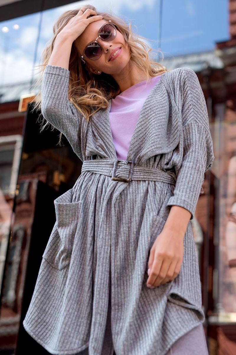 Cardigan 1701600-90 modern autumn open front pocket cardigan