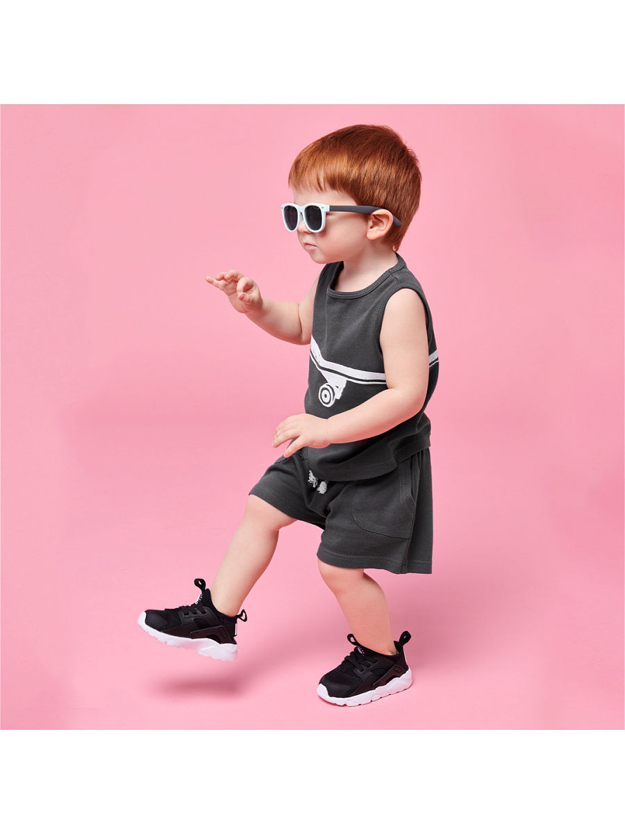 [Available with 10.11] Set for boys (Jersey and chest apron) [available with 10 11] bodysuit short sleeve set with chest apron