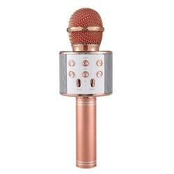 전문 Bluetooth 무선 마이크 스피커 Handheld 마이크 노래방 Mic Music Player 노래 레코더 KTV 마이크