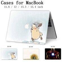 Hot macbook 13.3 용 새 노트북 케이스 macbook air pro retina 용 15.6 인치 11 12 13 15.4 화면 보호기 키보드 코브 선물