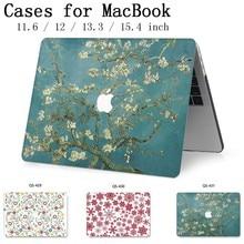 Para MacBook Air, Pro Retina, 11 12 13 15 para Apple nuevo caliente portátil caso bolsa 13,3 de 15,4 pulgadas con pantalla protector de teclado Cove tas