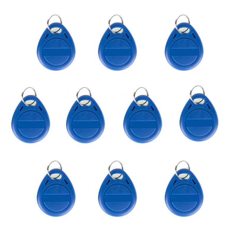 10 Pcs/lot RFID Door Key Chip 125kHz RFID Proximity ID Token Tag Key Keyfobs Rfid Key Fob For Door Entry System