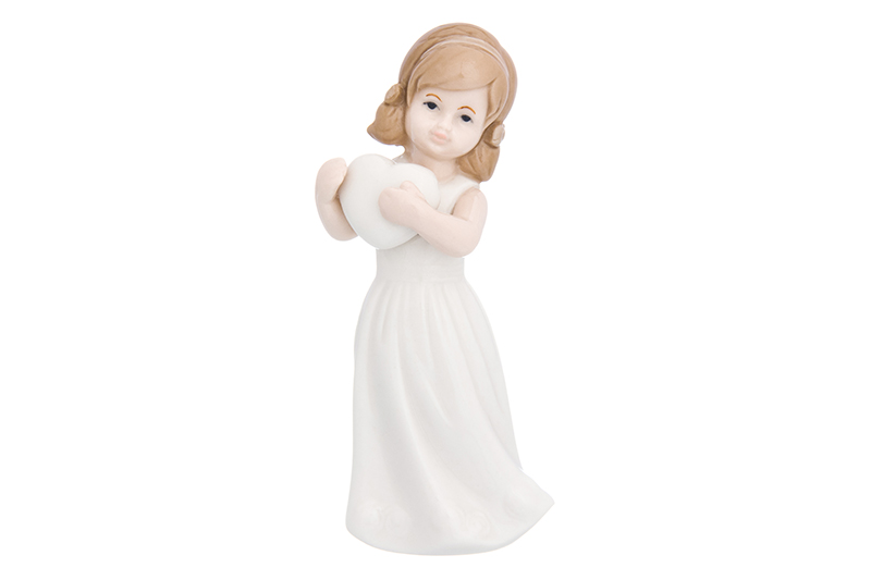 Available from 10.11 Decorative figurine Girl in a white dress with a heart Elan Gallery 870236 free soldier eod decorative rubber velcro armband black white