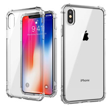 Transparent all-inclusive phone case for iPhone 11 X XS XR XSmax 8 7 6 6S PluS four-corner air bag drop protection cover