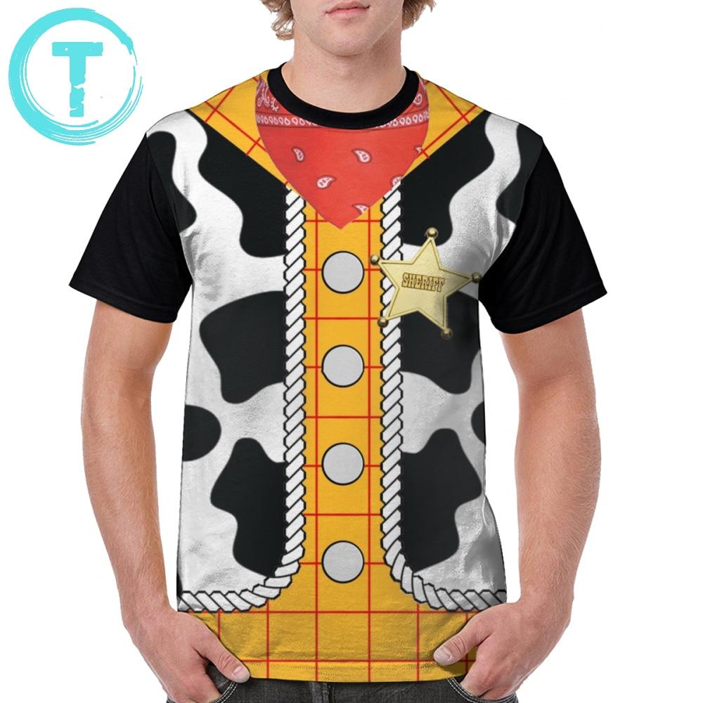 Toystory T Shirt Toy Story Woody T-Shirt Men Plus Size Graphic Tee Shirt Funny Fashion Print Polyester Short-Sleeve Tshirt