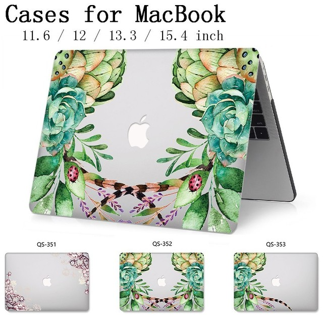New Laptop Case Hot For Macbook 13.3 15.6 Inch For MacBook Air Pro Retina 11 12 13 15.4 With Screen Protector Keyboard Cove Gift