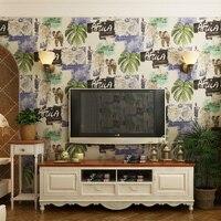 Wallpaper High Grade Southeast Asian 0.7mx10m New Elephant Banana Leaf Plantain Walls Mural Bedroom Living Room Wall Paper