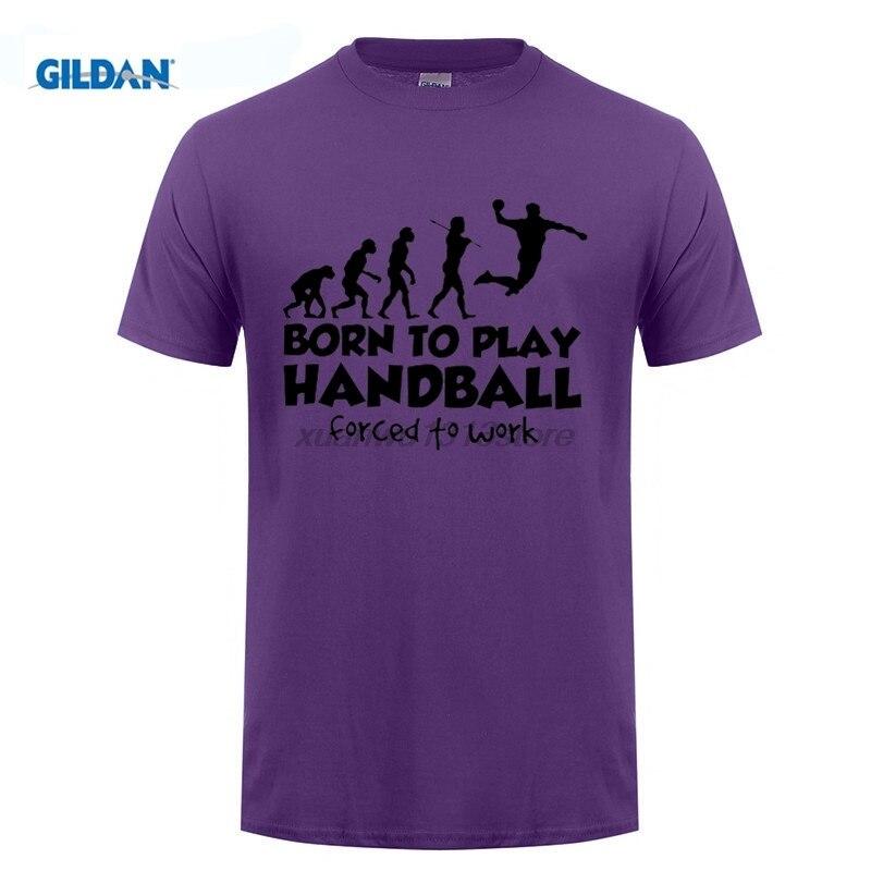 GILDAN Stylish T Shirts Handball Evolution Born To Play Forced Man O Neck Tops Clothing Short Sleeve T Shirt Sale Adult Men Tee in T Shirts from Men 39 s Clothing
