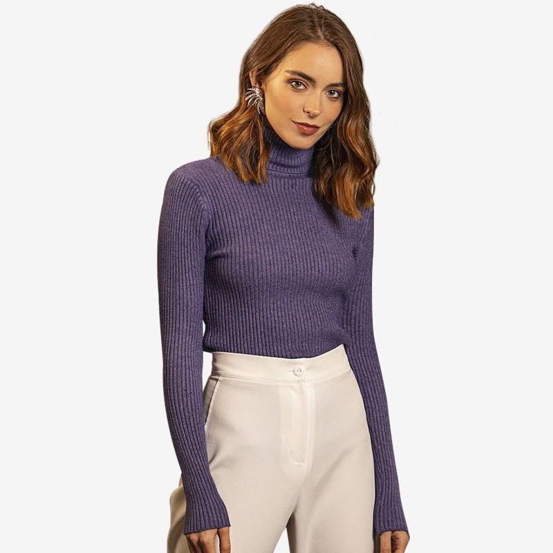 Turtleneck. Color lavender. ribbed turtleneck sweater