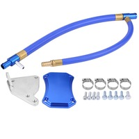 Professional EGR Valve Cooler Delete Kit for CHEVROLET SILVERADO GMC SIERRA 6.6L HD LML Diesel 2011 2015 Intake Exhaust Plate