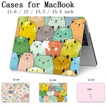 Hot Notebook Sleeve New For MacBook Air Pro Retina 11 12 13 15.4 13.3 Inch With Screen Protector Keyboard Cove For Laptop Case