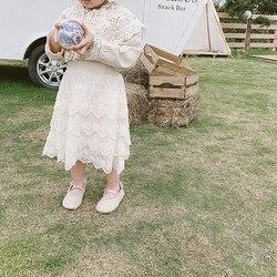 공주 레이스 치마 베이비 화이트 레이스 케이크 여자 스커트 요정 꽃 코튼 소녀 하프 길이 스커트 유아 유아 키즈 천