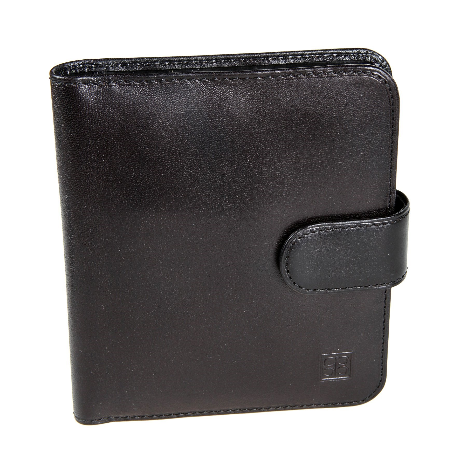 Business Card Holder Sergio Belotti 2612 Milano black genuine leather business vintage men s money purse short solid wallets dollar price male carteira masculina with card holders