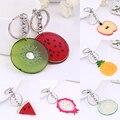 Verkauf Koreanische Neue Wassermelone Orange gummi Schlüssel Kette Für Frauen Ananas keychain Obst Kinder schul tasche anhänger