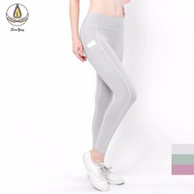 New Sport Women Fitness Yoga Denim Pants Gym Leggings High Waist Workout Leggins Scrunch Butt Lift Sports Wear Hips Up Trousers цены
