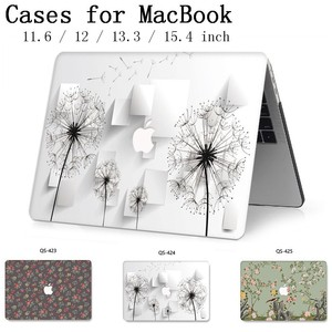 Image 1 - For MacBook Air Pro Retina 11 12 13 15 For Apple New Laptop Case Bag 13.3 15.4 Inch  With Screen Protector Hot Keyboard Cove tas