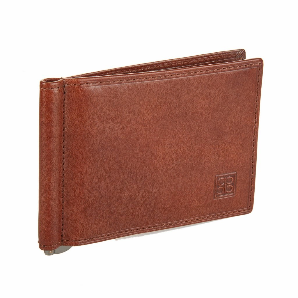 Coin Purse clip Sergio Belotti 2312 Milano Brown simline vintage genuine crazy horse cow leather men men s long hasp wallet wallets purse zipper coin pocket holder with chain