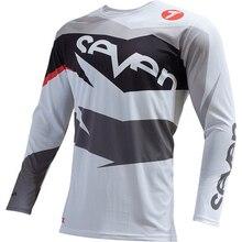 цена на 2018 SEVEN mx long sleeve offroad motocross racing downhill jersey men camiseta dh mtb velo mountain bike cycling t-shirt
