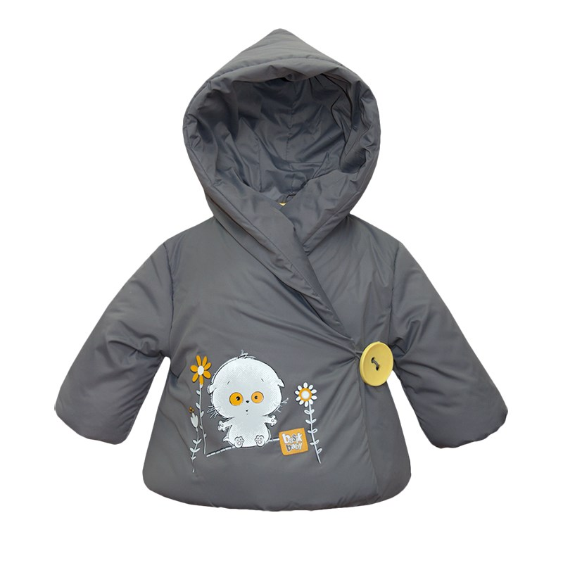 Basik Kids Jacket with smell gray kids clothes children clothing basik kids hooded jacket gray