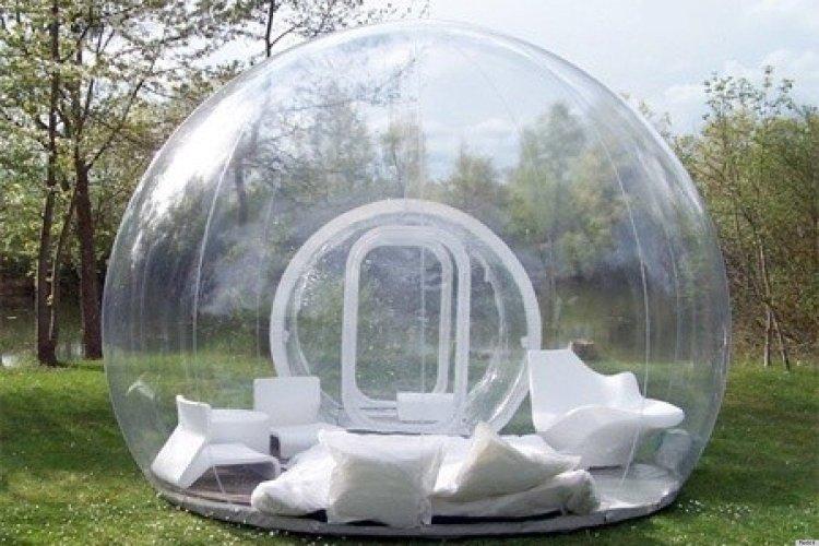 Camo Pattern Bubble Hut Inflatable Fan Tent for Kids