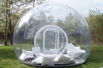 3/4/5m 10/13/16ft Outdoor Camping Inflatable Bubble Tent Large Diy House Dome Camping Cabin Lodge Air Bubble Transparent Tent 1