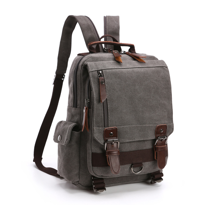 New Style Casual Backpack Fashion Canvas Outdoor Travel Shoulder Chest General Single And Double Shoulder Bag in Backpacks from Luggage Bags