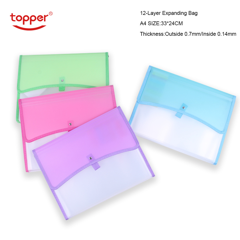 12-Layer Big Document Bag Accordion Bag Classification Test Papers Tool Business Expanding File Folders Filing Products Portable