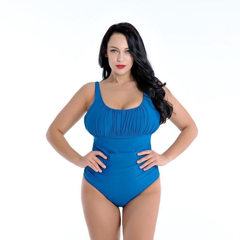 Plus Size Mulheres Swimwear One Piece 2019 Push Up Sexy Maiô Vestido Da Menina Empurrar Para Cima Maiô Tamanho Grande Natação 8XL Tankini
