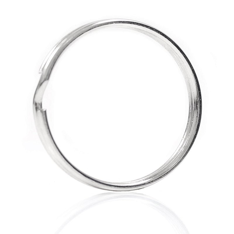 10X Quality 50Mm Keyring Split Ring Set Heavy Duty Large Nickel Key Loop Sprung Hoop