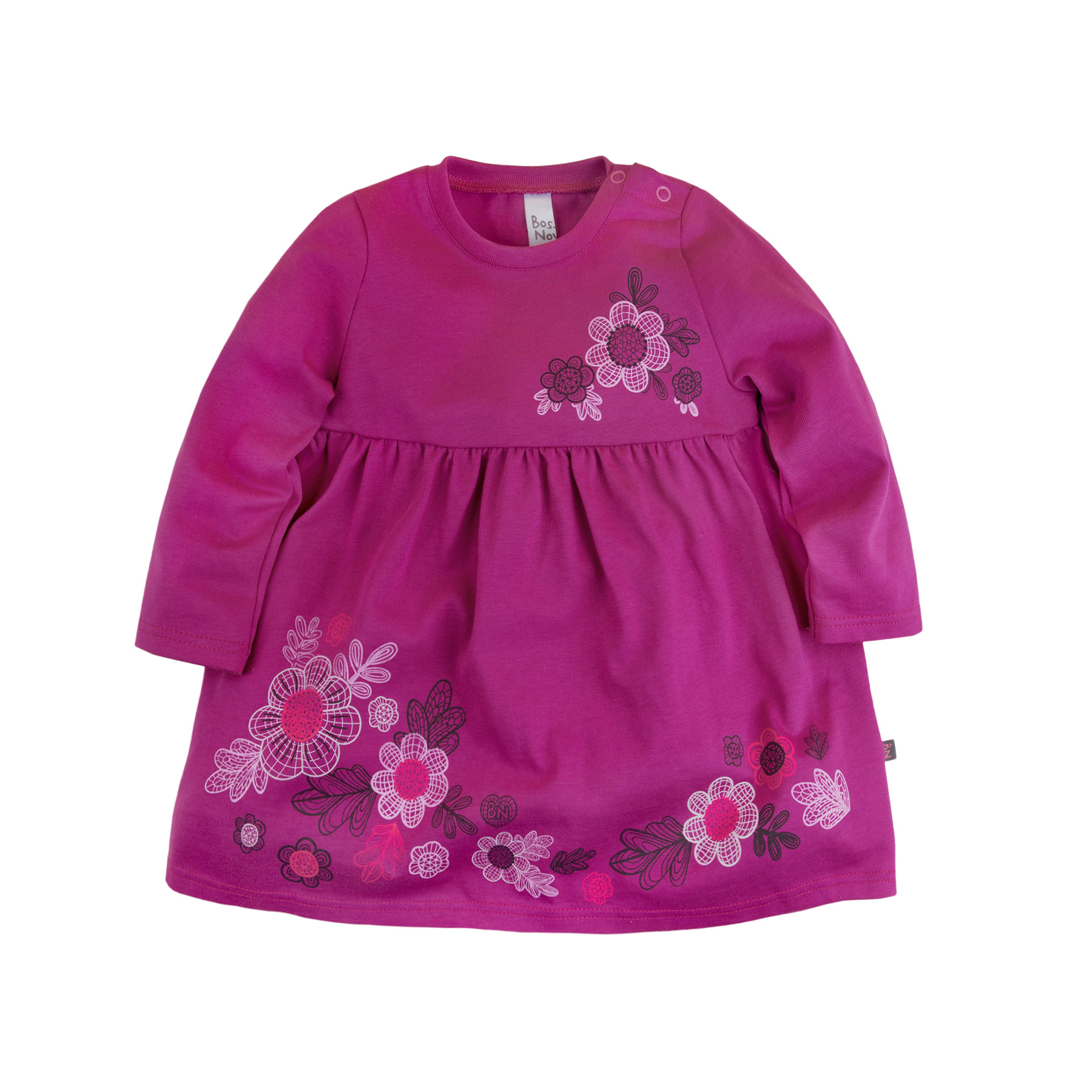 Dress for girls Bossa Nova 135B-161f girls tie neck polka dot dress