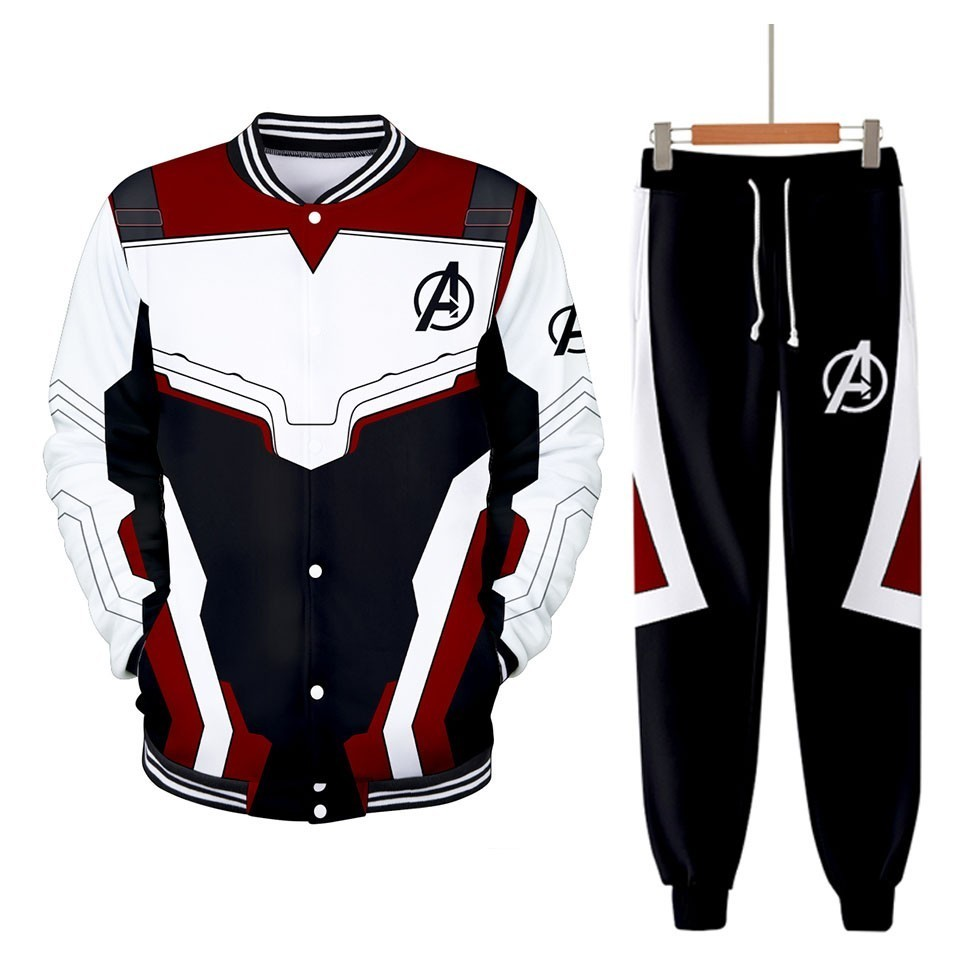 Men Tracksuit 2 Pieces Set Avengers Endgame 3D Hoodies And Pant Sporting Suit Two Pieces Set Mens Sweat Suit Cosplay Costumes