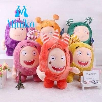 35cm Strange Treasure Of Soldiers Oddbods Newt Buuble Pogo Zee Jeff Fuse Slick Plush Dolls Stuffed Toys For Kids Christmas Gift