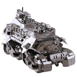 Iron Pioneer Armored Cars Fun 3d Metal Diy Miniature Model Kits Puzzle Toys Children Educational Boy Splicing Hobby Building