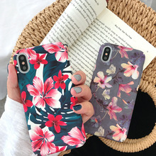 Vintage literary flower phone case for iPhone X XS XR XSMax 8 7 6 6S PluS all-inclusive hard shell drop protection cover