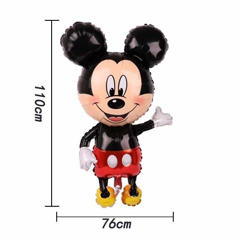 1pc duże Disney Mickey i Minnie z balonów foliowych dekoracje świąteczne Globos dekoracje na przyjęcie urodzinowe dla dzieci Babyshowerl prezent dla dzieci