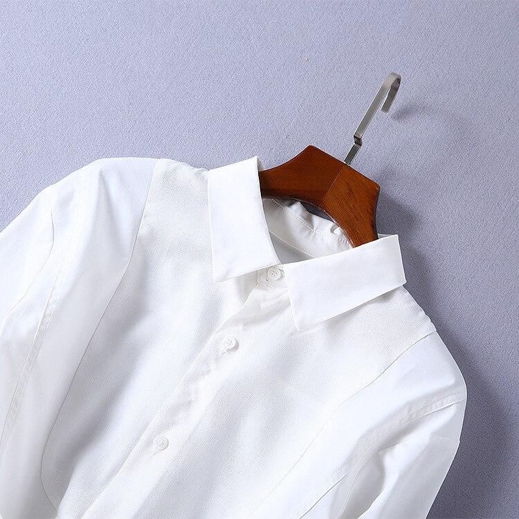 2018 nouvelle robe de mode de haute qualité robes de piste d'été femmes marque chemise blanche robe de luxe vêtements pour femmes - 3