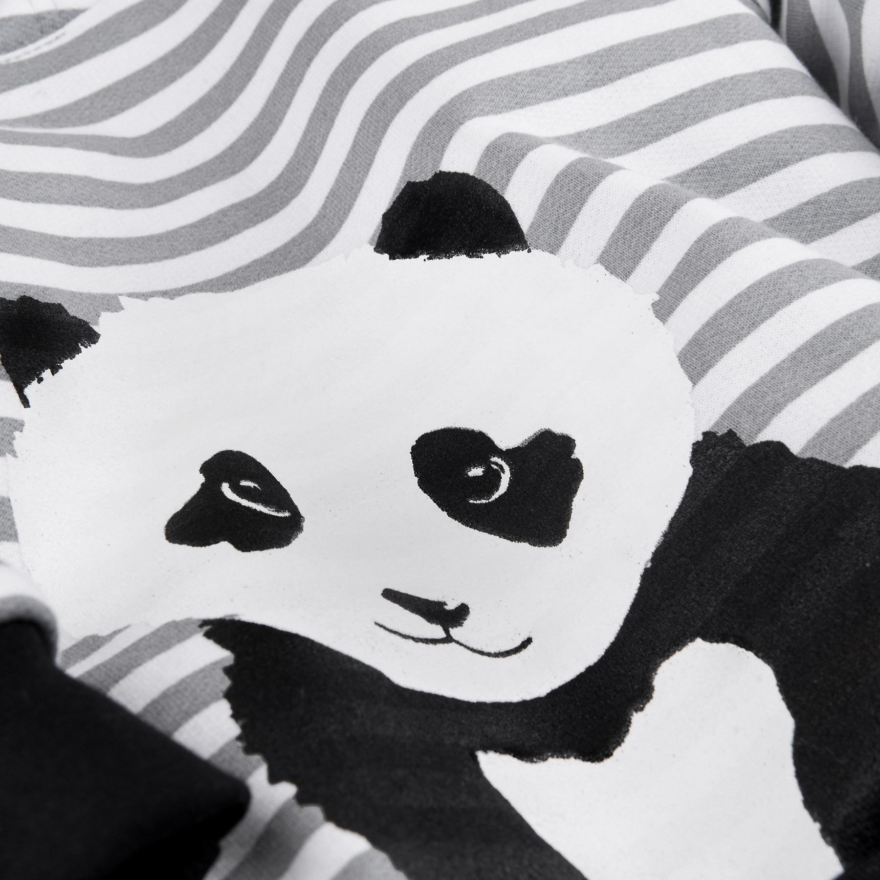 Available from 10.11 BOSSA NOVA Baby Hoodies Sweatshirts Panda 193B-472 panda head knit baby booties