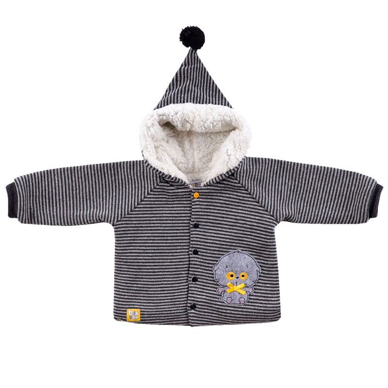 Basik Kids Jacket knitted button with a hood