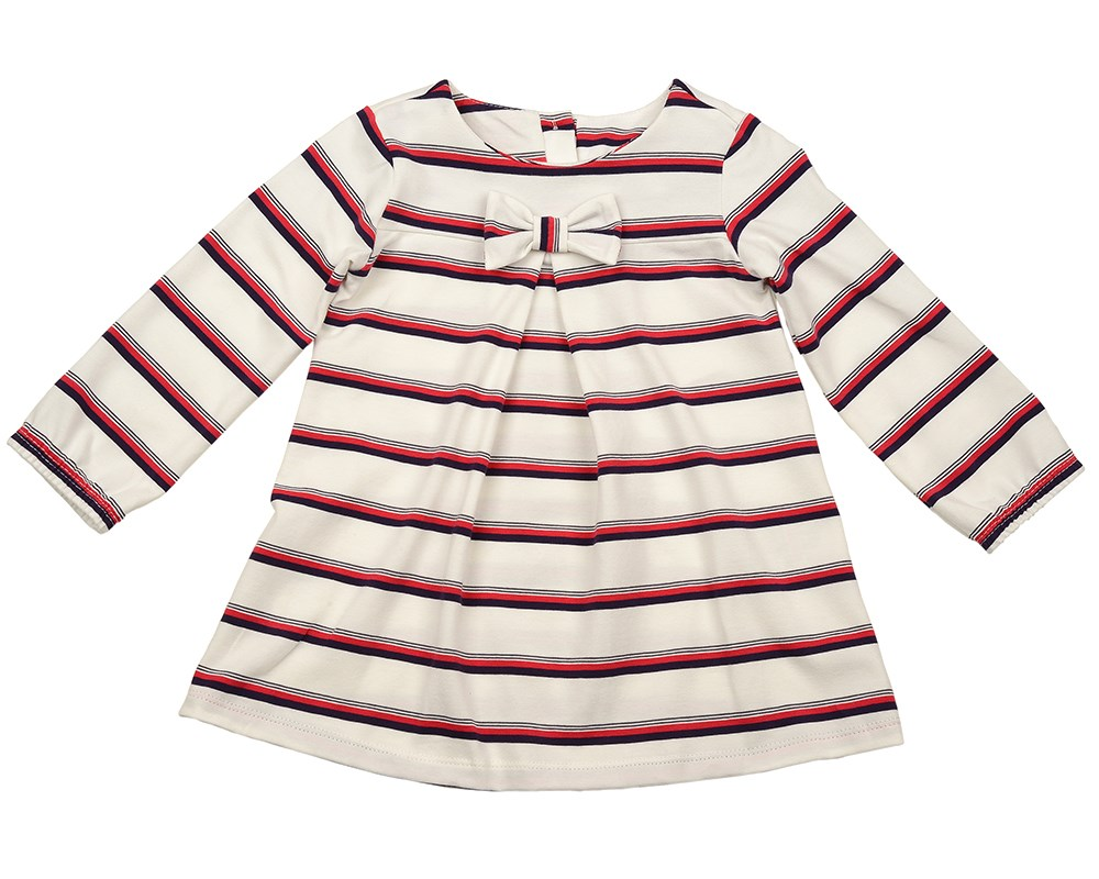 Stripe dress 104 116 cm contrast stripe twist front shirt dress